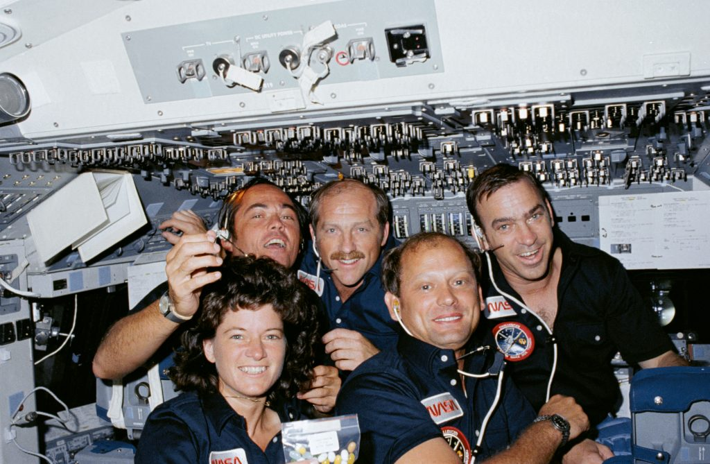 Sally Ride, STS-7 crew, astronauts, NASA, Discovery Diaries