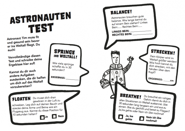 An Astronaut Workout auf Deutsch!