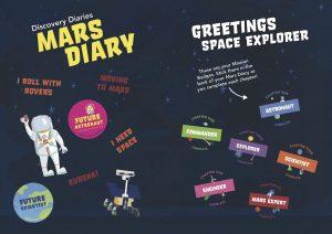 mars diary sticker insert