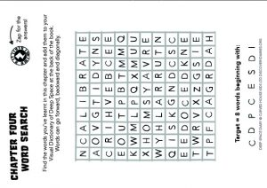 Deep Space Diary, Discovery Diary, Word Search Chapter Four