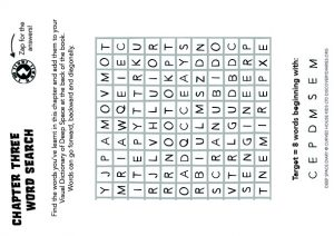 Deep Space Diary, Discovery Diary, Word Search Chapter Three
