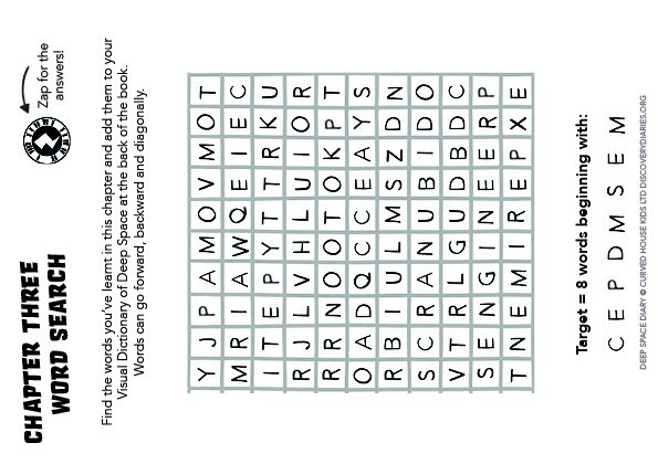 Chapter Three Word Search