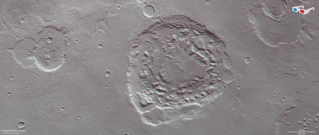 Ismenia_Patera_in_3D Mars Diary