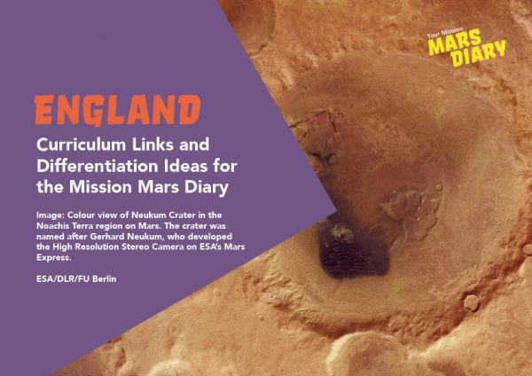Mars Diary Curriculum Guide England