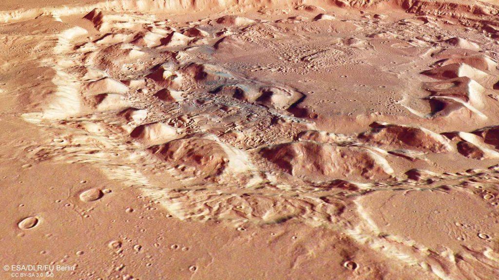 Ismenia patera supervolcano mars diary