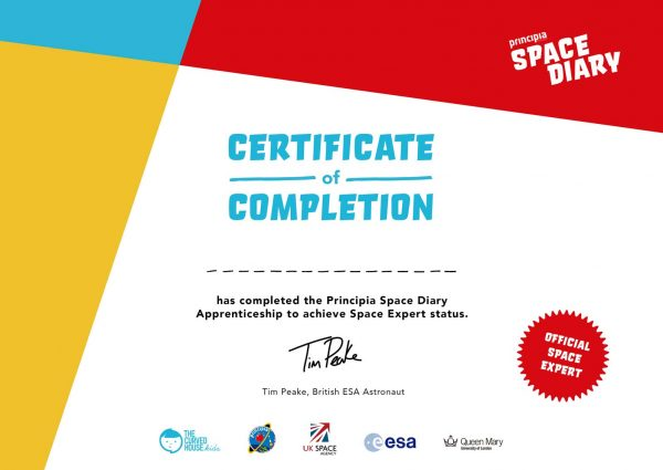 Space Diary Graduation Certificates
