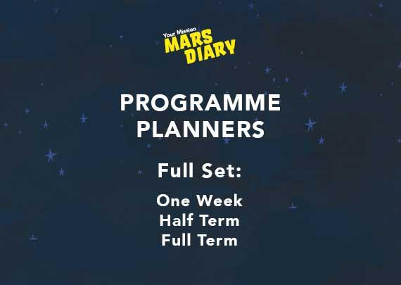 Mars Diary Programme Planner Full Set