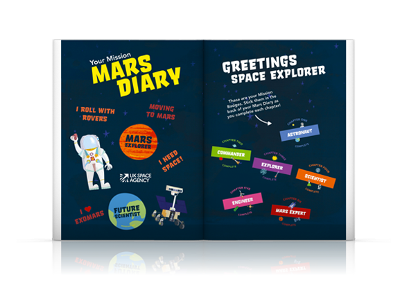 Mars Diary Primary Science STEM Tim Peake UKSA