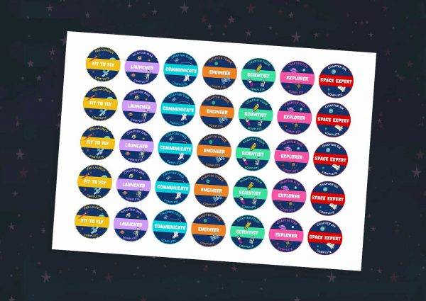 Space Diary Mission Badges: Home Ed