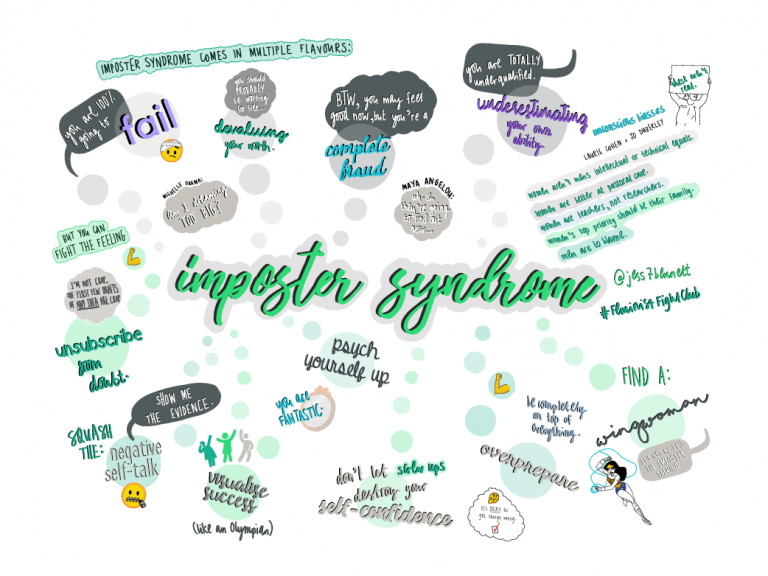 imposter syndrome, jess wade, imperial college london, doodles,