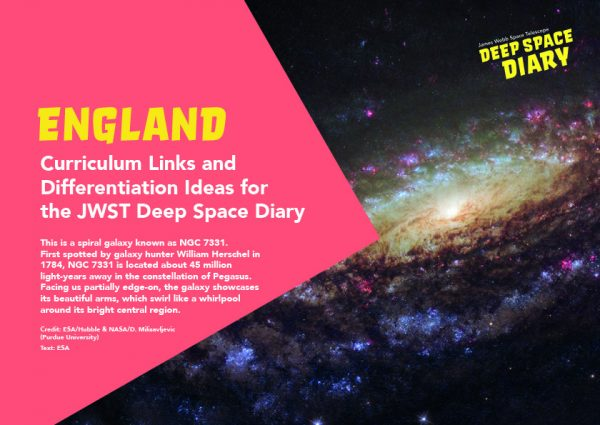 Deep Space Diary Curriculum Guide England