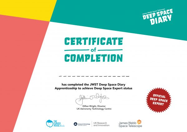 Deep Space Diary Certificate