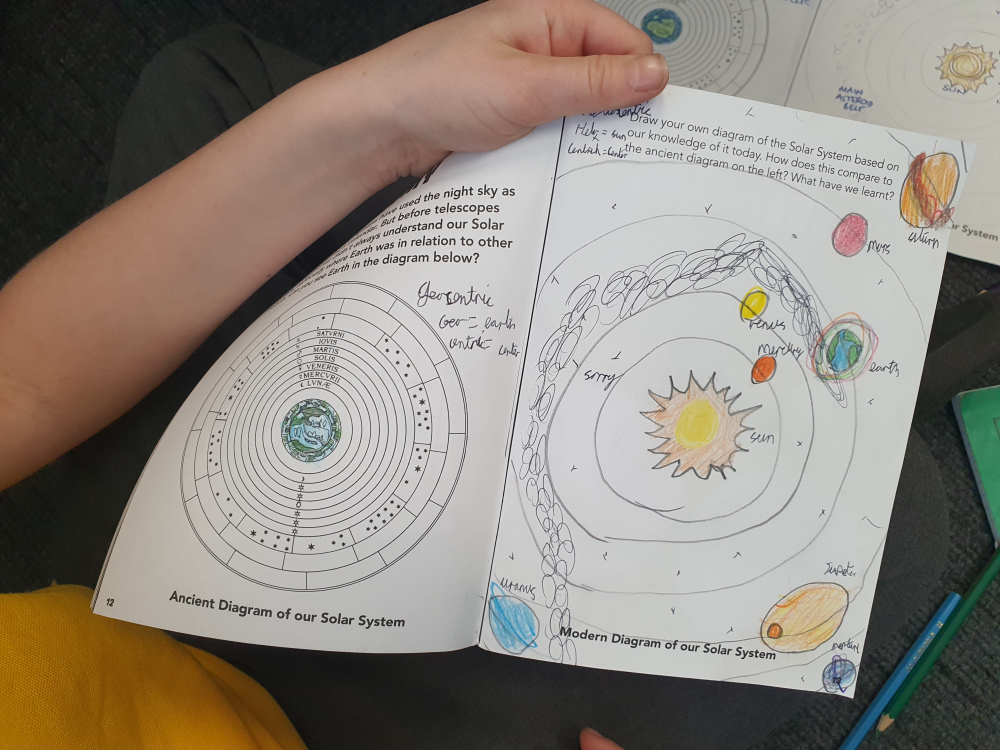 Year 5 students exploring the Universe with the James Webb Space Telescope